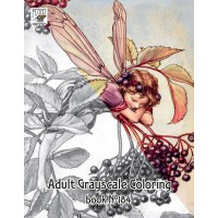 Flower Fairy Cicely Barker Fantasy (24 pages) Grayscale Coloring