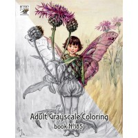 Fantasy Fairy Flower Cicely Barker (24 pages) Grayscale Coloring