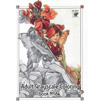 Flower Fairy Fantasy Pixies Cicely Barker (24 pages) Grayscale Coloring