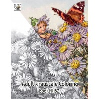 Flower Fairy Pixies Fantasy Cicely Barker (24 pages) Grayscale Coloring