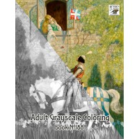 Knights and Kings Medieval Newell Wyeth (24 pages) Grayscale Coloring