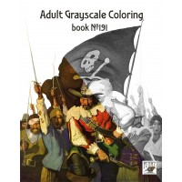 Pirates Naval Action Newell Wyeth (24 pages) Grayscale Coloring