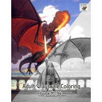 Dragons Knights Fantasy Hildebrandt (24 pages) Grayscale Coloring
