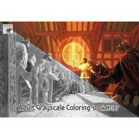 Knights Kings and Dragons Fantasy Hildebrandt (24 pages) Grayscale Coloring