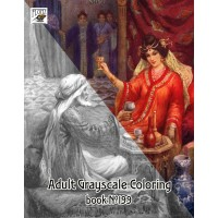 Oriental Fantasy Knights Princesse / Harry Theaker (24 pages) Grayscale Coloring