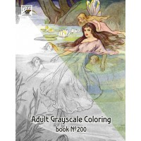 Fairy Princesse Air Fantasy / Harry Theaker (24 pages) Grayscale Coloring