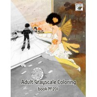 Cute Little Girl Fantasy Life Hilda Cowham (24 pages) Grayscale Coloring