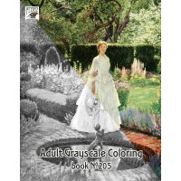 Medieval Gardens Fantasy Park / Eleanor Brickdale (24 pages) Grayscale Coloring