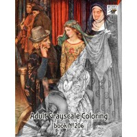 Medieval Young Girl Life / Eleanor Brickdale (24 pages) Grayscale Coloring