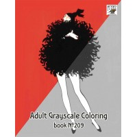 Rene Gruau Vintage Fashion (24 pages) Grayscale Coloring
