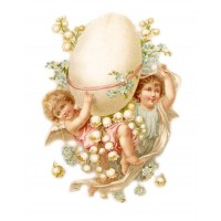 "Easter Bunny Chicken Vintage ~ 4pcs (2.5""x3.5"")"