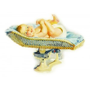 "Baby Newborn Laugh Vintage ~ 4pcs (2.5""x3.5"")"