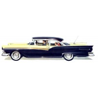 "Ford Fairlane ~ Classic Car Vintage ~ 4pcs (1.5""x3.5"")"
