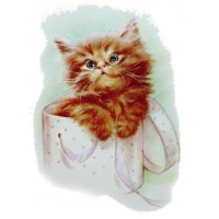 "Cute Kitten Vintage Cat Pussy Waterslide Decals (4pcs 2.5""x3.5"")"