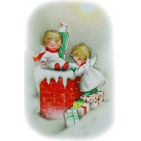 "Delivery 0495 Vintage Christmas Waterslide Decals (4pcs 2.5""x3.5""each)"