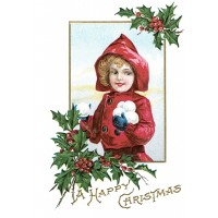 """Child Playing 0589 Vintage Christmas Waterslide Decals (4pcs 2.5""""x3.5""""each)"""