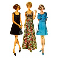 "Dinnerwear 0638 Vintage Fashion Waterslide Decals (4pcs 2.5""x3.5""each)"