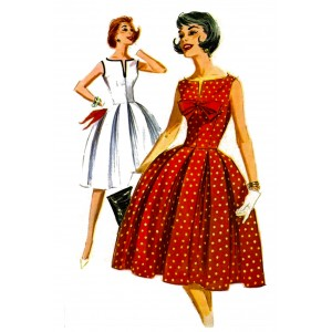 """1950's Style 0642 Vintage Fashion Waterslide Decals (4pcs 2.5""""x3.5""""each)"""