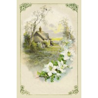 "Country Home 0716 Vintage Flowers Waterslide Decals (4pcs 2.5""x3.5""each)"