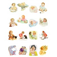 "Baby Kids and Toddlers // Decoupage Paper Pack (10sheets A4 / 8""x12"")"