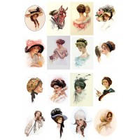 "Victorian Ladies // Decoupage Paper Pack (10sheets A4 / 8""x12"")"