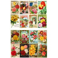 "Flowers Roses Garden Wildflowers // Decoupage Paper Pack (10sheets A4 / 8""x12"")"