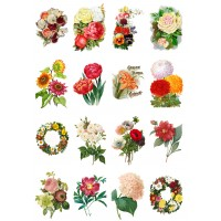 """Flowers Roses Garden Wildflowers  // Decoupage Paper Pack (10sheets A4 / 8""""x12"""")"""