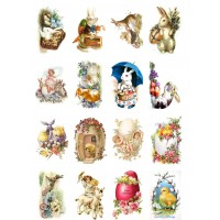 "Easter Bunny Chicks // Decoupage Paper Pack (10sheets A4 / 8""x12"")"