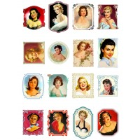 "Pretty Woman Portraits // Decoupage Paper Pack (10sheets A4 / 8""x12"")"