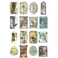 "Christmas Winter Landscapes // Decoupage Paper Pack (10sheets A4 / 8""x12"")"