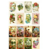 "Spring Landscapes Garden Wildflowers // Decoupage Paper Pack (10sheets A4 / 8""x12"")"
