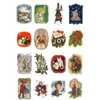 "Vintage Christmas Santa Kids // Decoupage Paper Pack (10sheets A4 / 8""x12"")"