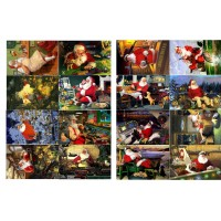 "Vintage Christmas Santa Gifts Work // Decoupage Paper Pack (10sheets A4 / 8""x12"")"