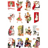 "Vintage Christmas Family // Decoupage Paper Pack (10sheets A4 / 8""x12"")"
