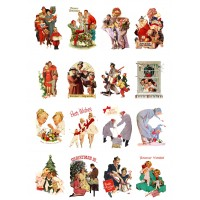 "Vintage Christmas Family Gifts // Decoupage Paper Pack (10sheets A4 / 8""x12"")"