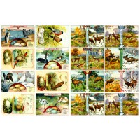"Deers Elk and Birds // Decoupage Paper Pack (10sheets A4 / 8""x12"")"