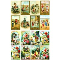"Kids Playing // Decoupage Paper Pack (10sheets A4 / 8""x12"")"