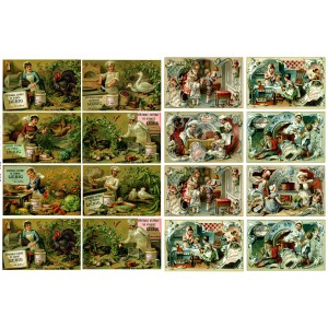 "Kitchen Kids Cheif // Decoupage Paper Pack (10sheets A4 / 8""x12"")"