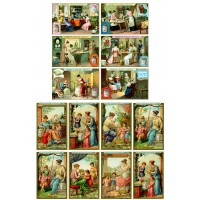 "Victorian Crafting Ladies // Decoupage Paper Pack (10sheets A4 / 8""x12"")"