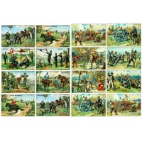 "War Soldiers Cannon Shooting // Decoupage Paper Pack (10sheets A4 / 8""x12"")"