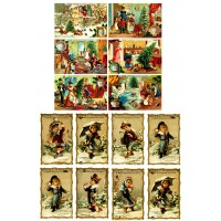 "Winter Kids Christmas // Decoupage Paper Pack (10sheets A4 / 8""x12"")"