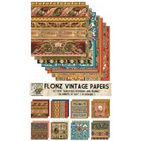 """Baroque Borders and Frames (Paper Set 16 pages 10""""x10"""")"""