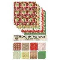 """Bright Christmas (Paper Set 16 pages 10""""x10"""")"""