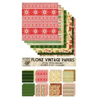 "Retro Christmas (Paper Set 16 pages 10""x10"")"