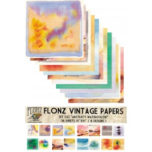 """Abstract Watercolor (Paper Set 16 pages 10""""x10"""")"""