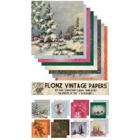 """Christmas Cards Templates (Paper Set 16 pages 10""""x10"""")"""