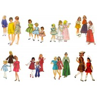 "Stickers (8 pics 2.5""x3.5"" each) Vintage Fashion Kids Disco Years"