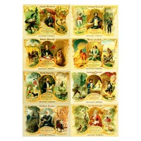 "Stickers (8pics 2.5""x3.5""each) Vintage Victorian People"