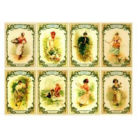 "Stickers (8pics 2.5""x3.5""each) Vintage Victorian Lady Life"