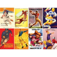"Stickers (8 pics 2.5""x3.5""each) Vintage Sport Poster Football"
